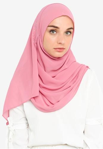 Najjah pink Naira Instant Shawl C7FB0AABAF74ADGS_1