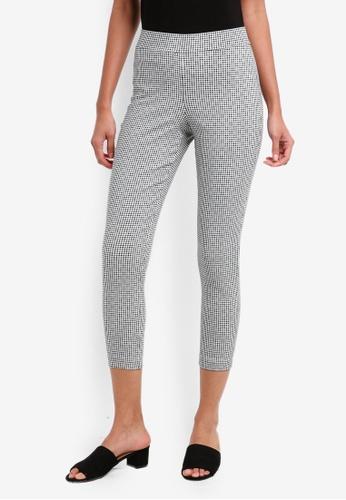 Dorothy Perkins black Petite Mini Checkered Bengaline Pants 7D90CAAC9E412DGS_1