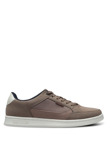 Jack & Jones grey and brown Jfwmax Combo Taupe Grey 5C1FFSH8EC7CD2GS_1