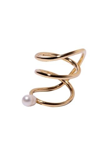 SKEDA gold Aida Pearl Ring 8CF41AC48CAF53GS_1