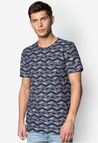 鋸齒印花T 恤, 服飾, zalora 台灣服飾