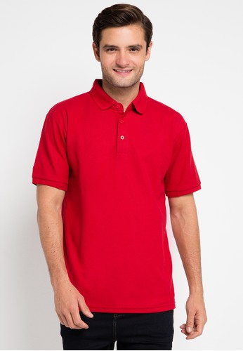 Contempo red Polo Shirt S/S CO339AA0UVY7ID_1