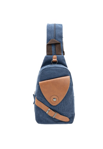 Jack Studio blue Jack Studio Multifunctional Crossbody Sling Shoulder Chest Backpack Canvas Bag 4EFA6AC6D2A9F2GS_1
