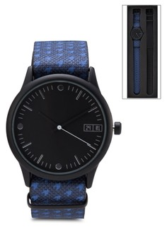 Houndstooth Print Duo Strap Watch Set