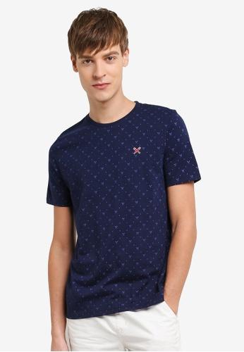 REGATTA navy All-Over Print T-Shirt RE699AA0RUPFMY_1