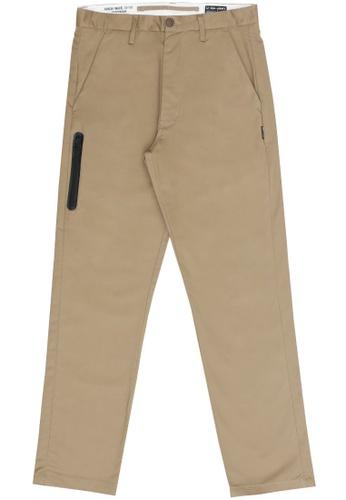 izzue beige Straight cut pants 1DABBAA324E2B3GS_1