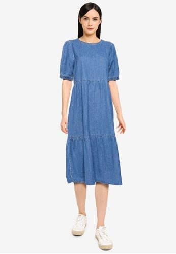 Noisy May blue Sessi Ankle Dress 0861AAA56DA542GS_1