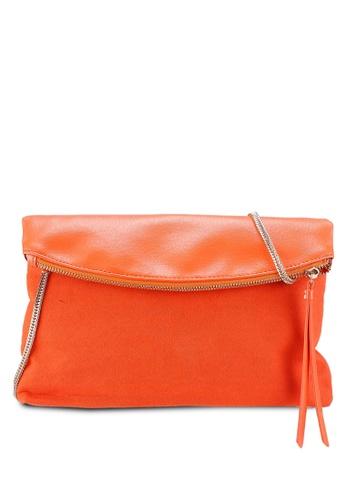 14e3e96b24 Dorothy Perkins orange Orange Foldover Clutch Bag 9C5B2ACD2682A9GS 1