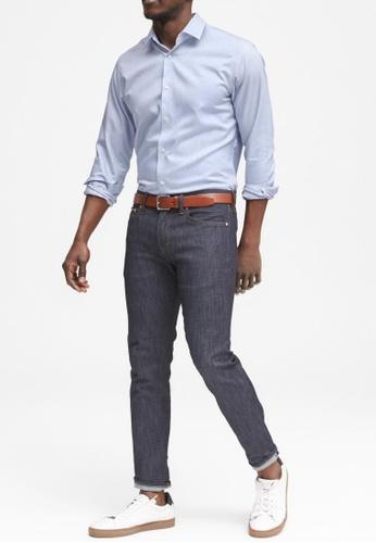 Banana Republic blue Camden Standard-Fit Non-Iron Dress Shirt DEA3AAA1B6392AGS_1