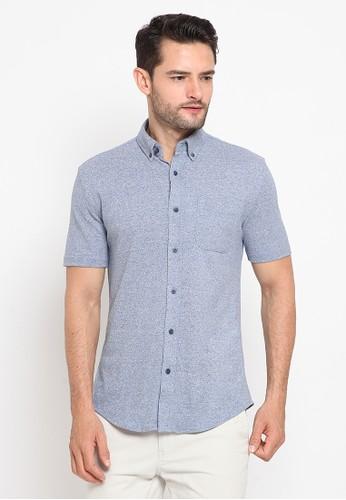 The Executive blue Short Sleeves Basic Shirt 6C1BBAA2E8B9D9GS_1