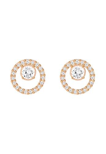 Swarovski gold Creativity Circle Pierced Earrings 3AB57ACB4A023BGS_1