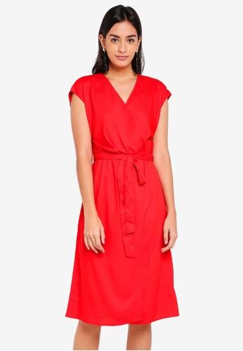 Vero Moda red Ally Short Sleeve Dress 7D0EEAA3BB8E9FGS_1