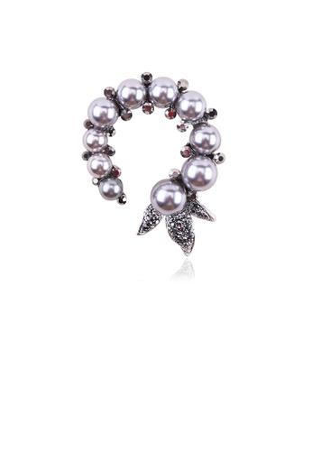 Glamorousky white Fashion and Elegant Geometric Imitation Pearl Brooch with Cubic Zirconia 27E0FAC894E1DDGS_1