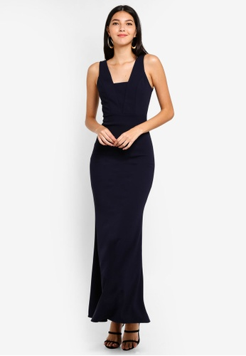 WALG navy Maxi Dress With Filled Insert 82DD8AA6342703GS_1