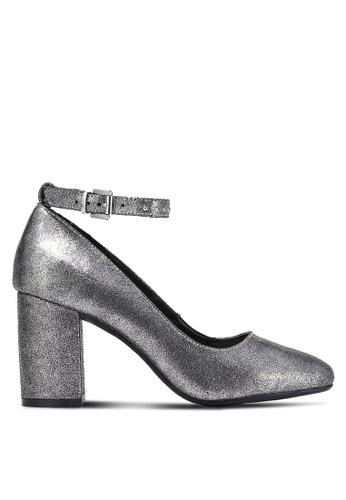 Something Borrowed silver Studded Strap Block Heels A2A73ZZ3BD422EGS_1