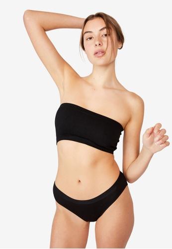 Cotton On Body black Cotton Rib Bikini Cut Briefs C31E2US9637F91GS_1
