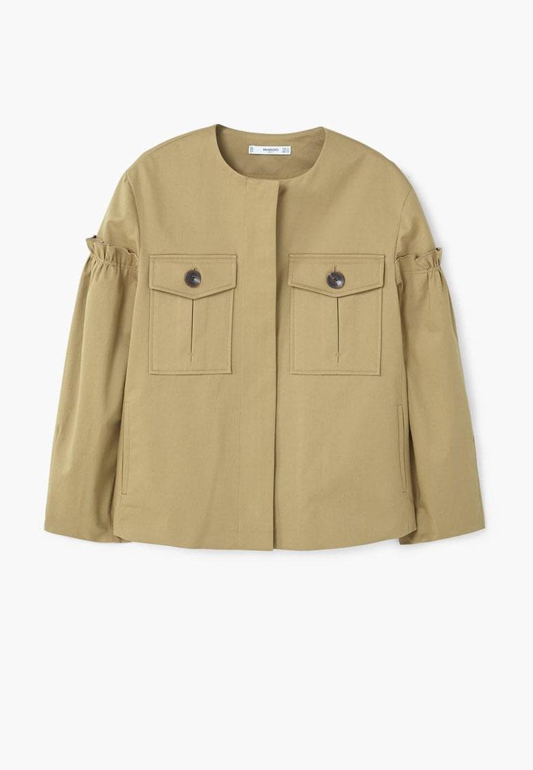 Mango Khaki Pocket Pocket Cotton Jacket Mango 1p1fxqBr