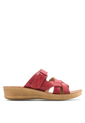 Noveni red Criss-Cross Sandals NO978SH41EOWMY_1