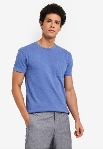 J.Crew blue Men's Slim Garment Dye Slub Jersey Tee E919DAA3369C1BGS_1