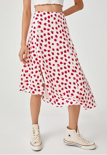 Love, Bonito white Ariadne Asymmetrical Hem Midi Skirt 8E519AAB79F7E1GS_1