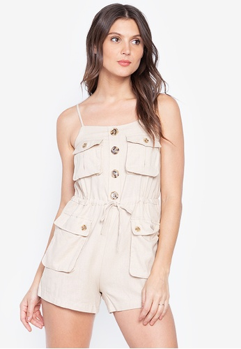 Lady N white Korean Style Spaghetti Strap Summer Sexy Jumpsuit Romper High Streetwear 53EF3AAEE61D83GS_1