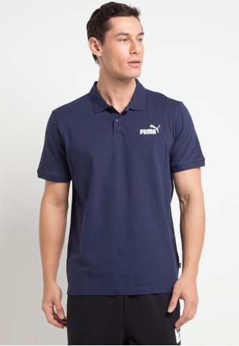 PUMA navy Sportstyle Core Essentials Pique Polo C40C4AA3851E3FGS_1