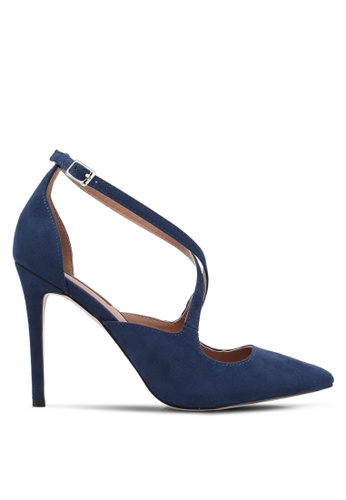 ZALORA blue Strappy Pointed Toe Heels C7E60ZZ9267573GS_1