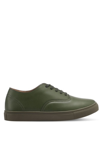 ZALORA green Classic Lace Up Sneakers 2389ASH70C649BGS_1