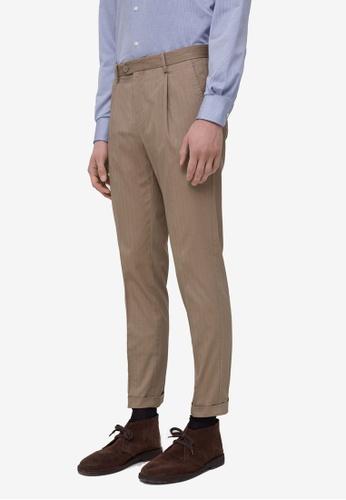 OVS brown Darts Trousers 50E0EAA09CD974GS_1