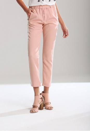 London Rag pink Elastic Waist Striped Pants F3776AAAAAEC7EGS_1
