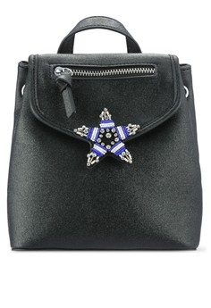 【ZALORA】 STAR EMBELLISHED BACKPACK