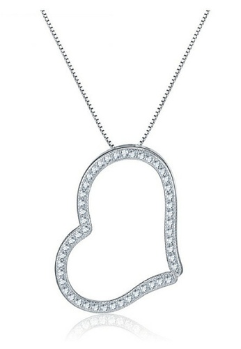 Vivere Rosse silver Aimee Heart 925 Sterling Silver Pendant Necklace VI014AC22DLXMY_1