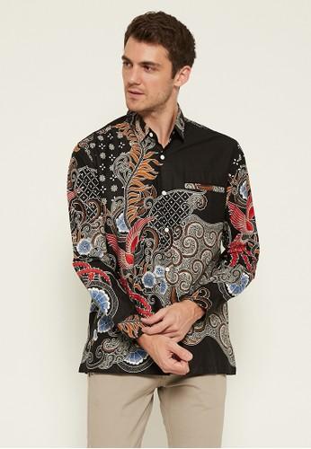 Woffi black Craigmore Batik Shirt 3A933AA5C9C1C9GS_1