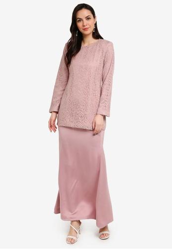 Butik Sireh Pinang pink Baju Kurung Moden Iris A4674AAAB250D7GS_1