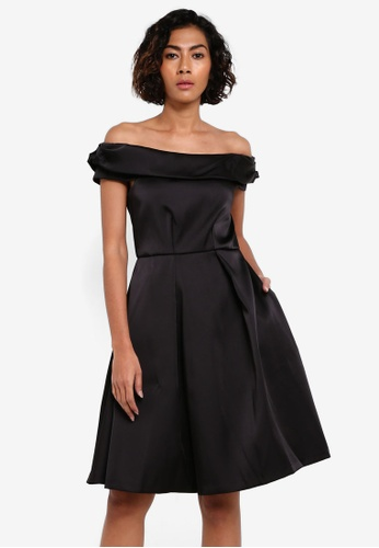 CLOSET black Off The Shoulder Dress CL919AA0RSUNMY_1
