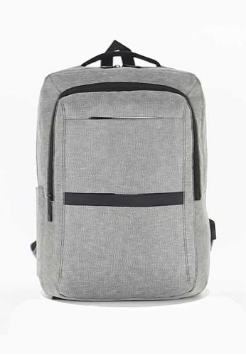 Lara grey Men's Minimalist Water Repellent Nylon Alleviate Burdens Zipper Backpack - Grey 7C5F2AC367E952GS_1
