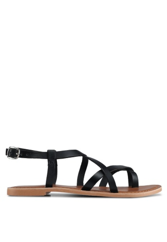 TOPSHOP black Hiccup Strappy Sandals 41694SHBF63DFEGS_1