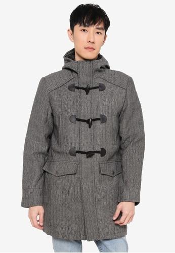 Indicode Jeans grey Bald High Collar Coat 351CDAA666508BGS_1
