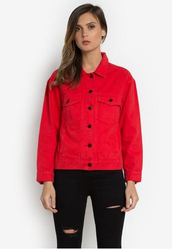 NOBASIC red Denim Jacket A6651AA9AEB206GS_1