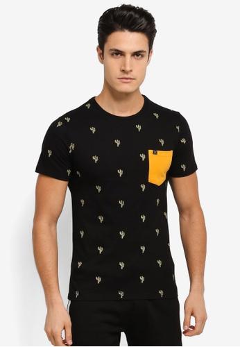 JAXON black Cactus Motif Tee 90D83AA3A6B3F1GS_1