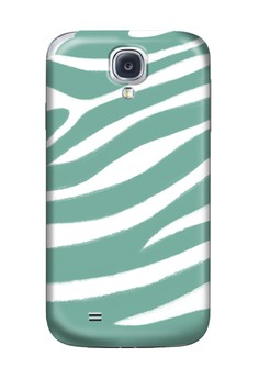 Blue Zebra Print Glossy Hard Case for Samsung S4
