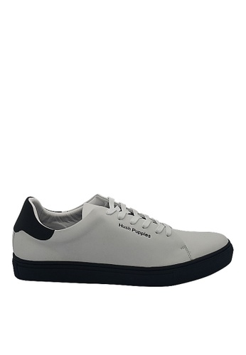 Hush Puppies white Hush Puppies Kenneth Sneaker In Navy 91189SHD0313ECGS_1