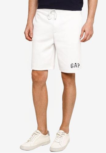 GAP white New Arch Logo Shorts 01DE0AA09CF0D0GS_1