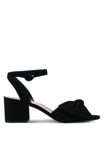 ALDO 黑色 蝴蝶結繞踝粗跟涼鞋 C4F93SH121F7C8GS_1