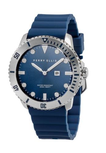 PERRY ELLIS blue Perry Ellis Deep Diver Unisex 42mm Quartz Watch 06002-03 4AAB3AC92C2A50GS_1