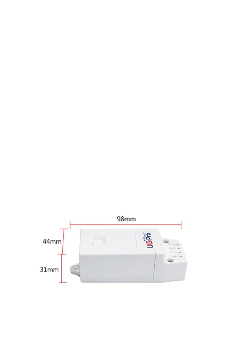 UKGPro KinSwitch 1-路RF&WiFi無線接收智能電源控制器可控調光,分體式電源燈制開關直接安裝在電燈的源頭透過無線接收訊號開關多達配對10個RF無線開關雙控多控無須拉線(U-ERC1201-W)