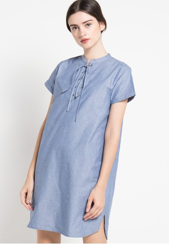 EDITION blue Denim Dress ED101AA77RJUID_1