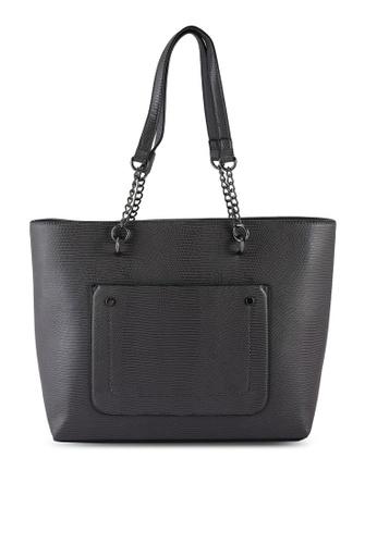 Dorothy Perkins grey Grey Lizard Chain Pocket Shopper E3A83ACFCBA87AGS_1