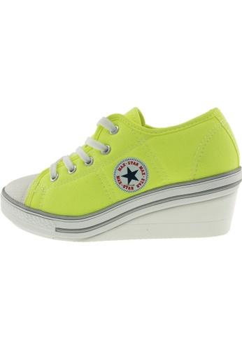 Maxstar 綠色 新款韩国鞋ZL-5H時尚帆布布混合女綠色 US Women Size MA345SH42HGZTW_1