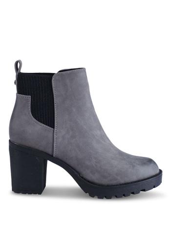 ONLY 灰色 高跟踝靴 D8E8ASH826F850GS_1